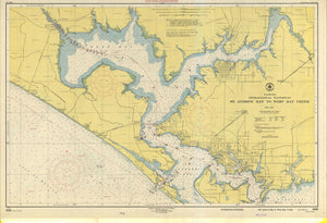 St. Andrew Bay to West Bay Creek Map - 1951