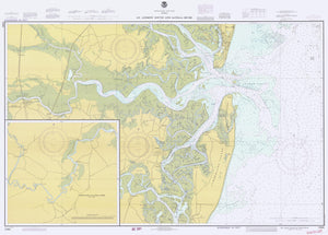St. Andrew Sound and Satilla River Map - 1980