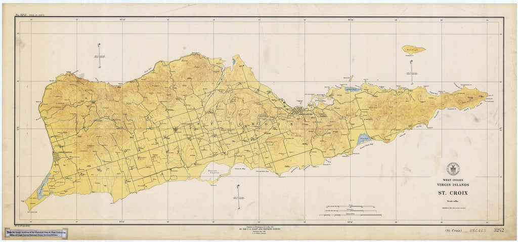 st croix usvi historical map 1923