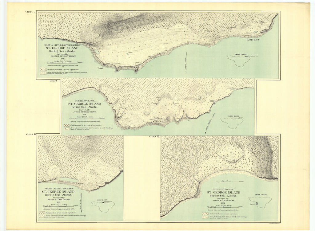 St. George Island Alaska Map - 1891