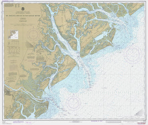 St. Helena Sound to Savannah River Map - 1977