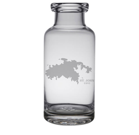 St. John Engraved Glass Carafe