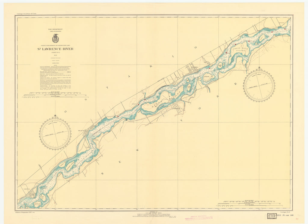 St. Lawrence River Chart #12 - 1937