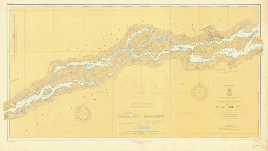 St. Lawrence River Chart #1 - 1911