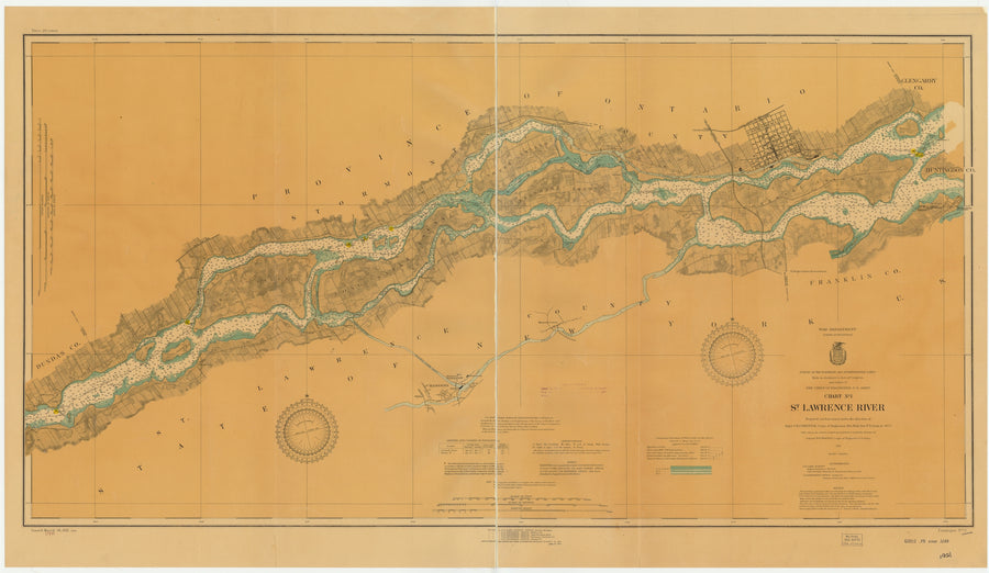 St. Lawrence River Chart #1 - 1921