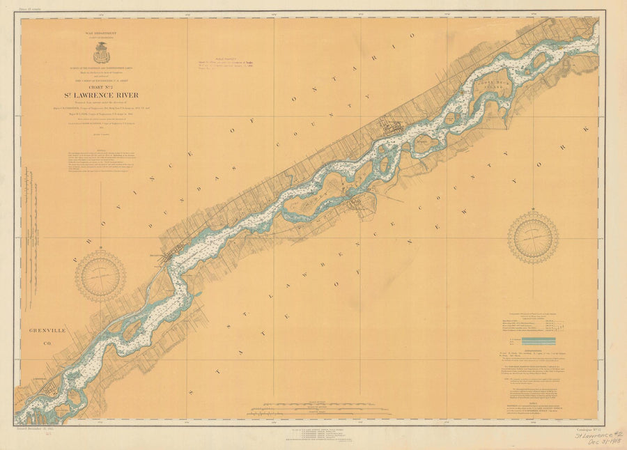 St. Lawrence River Chart #2 - 1915