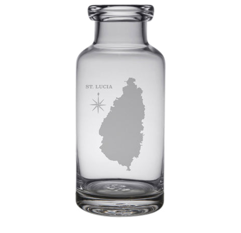 St Lucia Engraved Glass Carafe