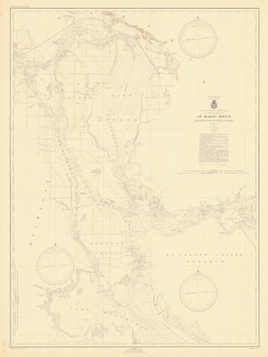 St. Mary's River - Lake Munuscong to Sault Ste. Marie Map - 1946