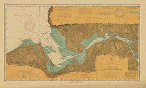 Lake Superior - St. Mary's River Historical Map - 1911