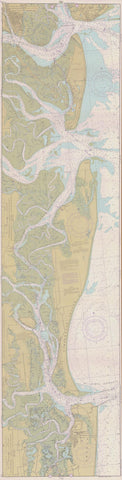 St. Simons Sound to Tolomato River Map - 1979