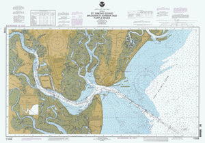 St. Simons Sound - Brunswick Harbor and Turtle River Map - 1996