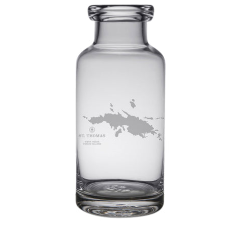 St Thomas Engraved Glass Carafe
