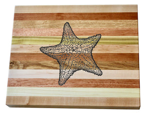 Starfish Wooden Serving Board