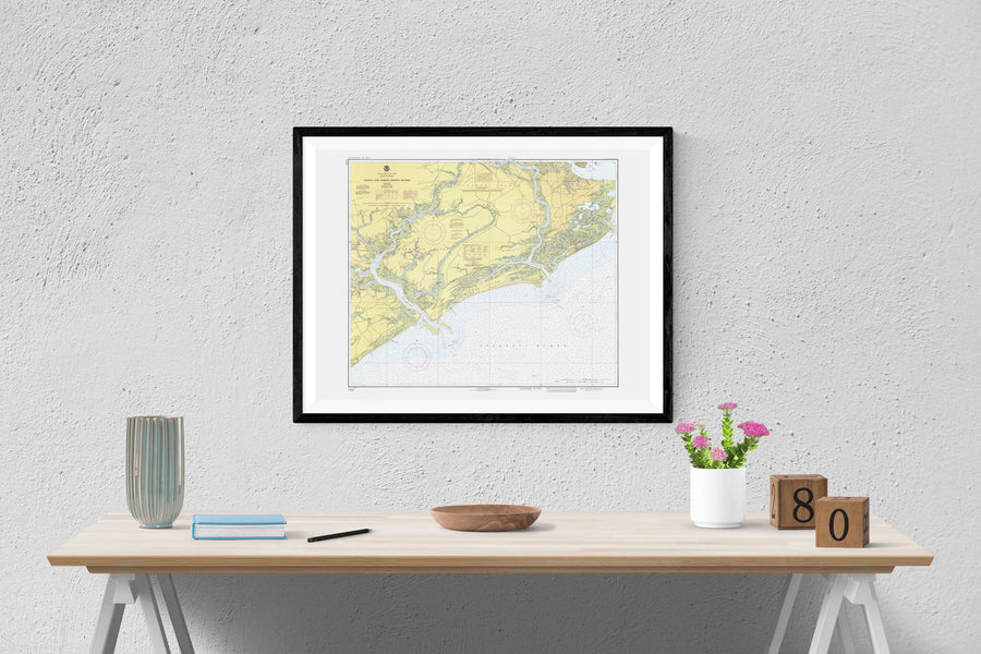 Stono and North Edisto Rivers Map - 1980