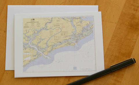 "Stono & North Edisto Map Note Cards 4.25""x5.5"""
