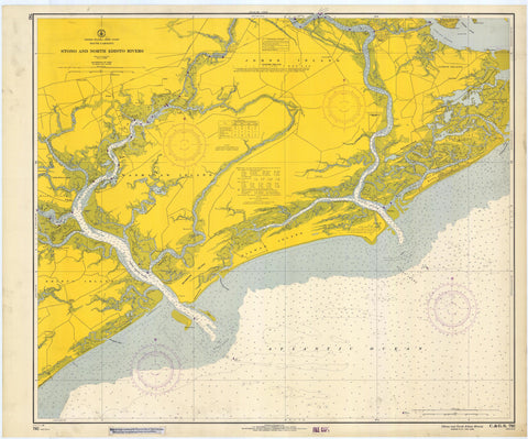 Stono and North Edisto Rivers Map - 1966