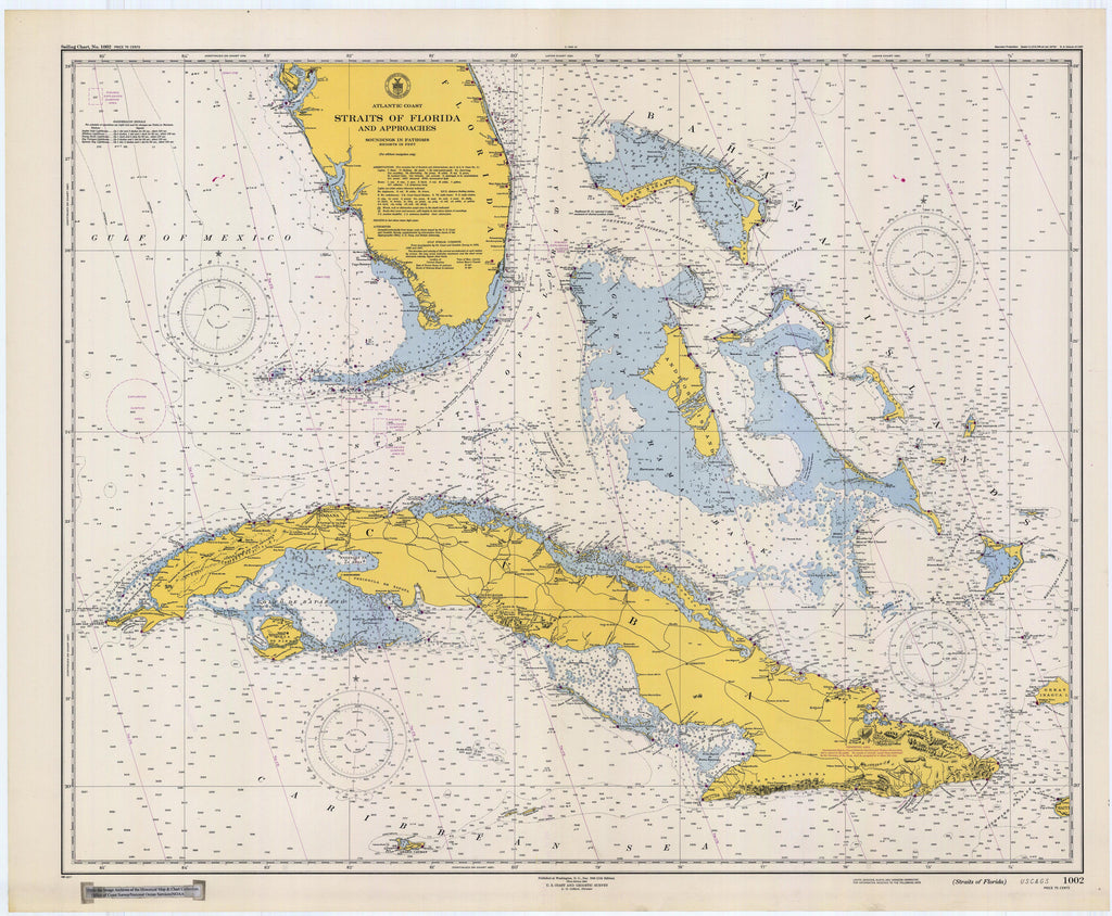 Straits of Florida Map - 1948