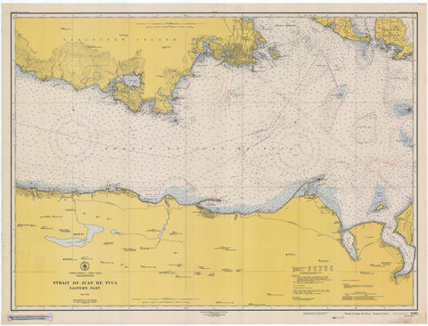 Strait of Juan de Fuca - Eastern Part Map - 1948