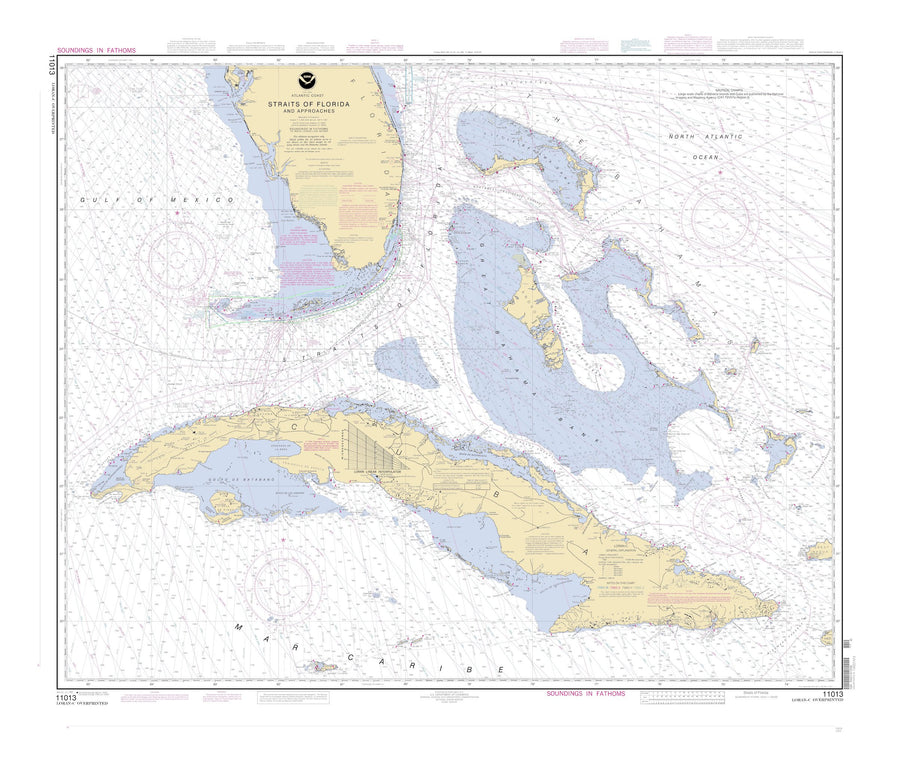Straits of Florida Map - 2003