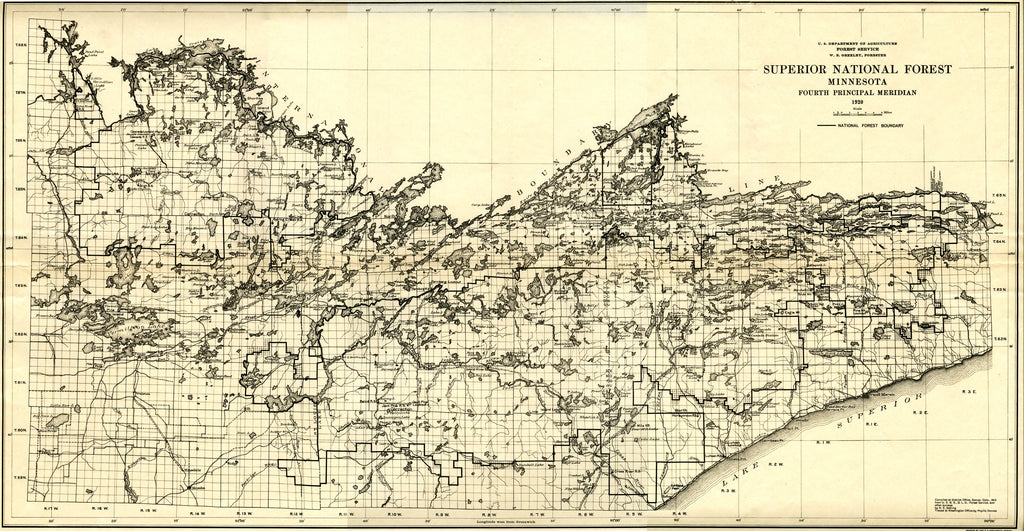 Superior National Forest Map - 1920