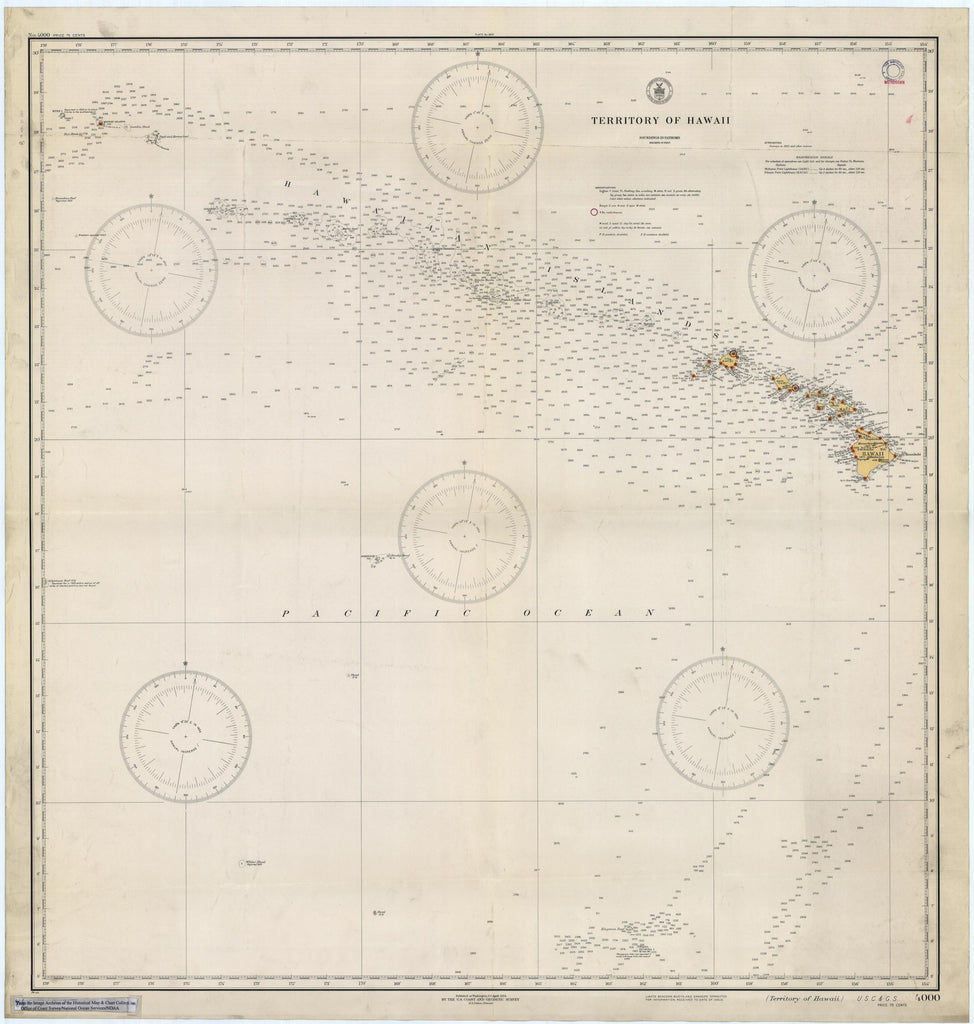 Territory of Hawaii Map -1934