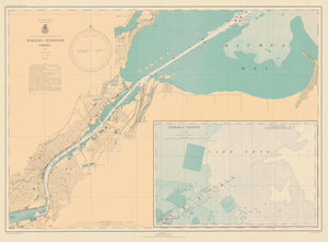 Toledo Harbor Map - 1943