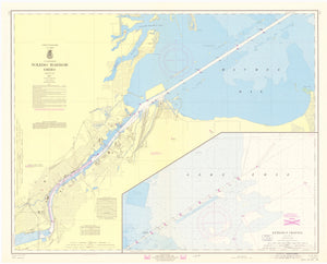 Toledo Harbor Map - 1967