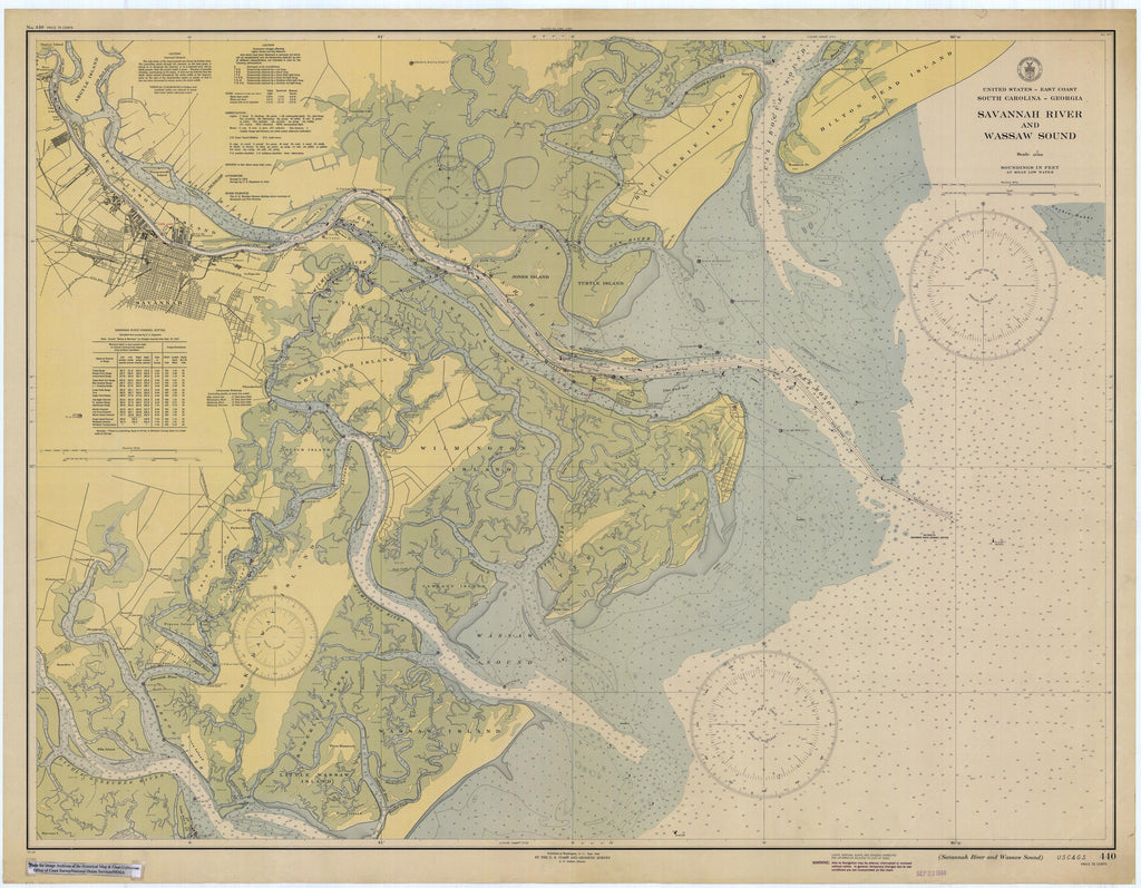 Tybee Island - Savannah Map 1944