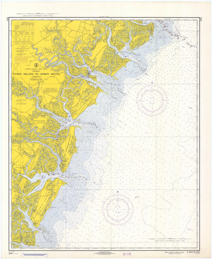 Tybee Island to Doboy Sound Map - 1968