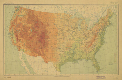 United States Map - 1911