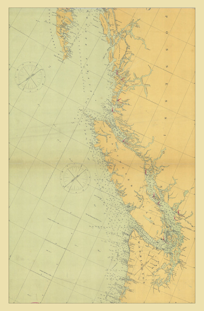Vancouver Island Map - 1898