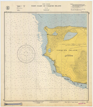 Vieques Island Map - West End Historical Chart 1947