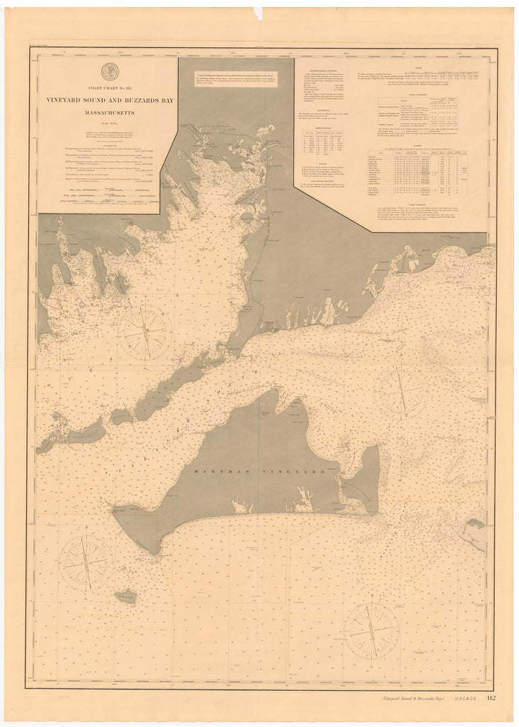 Buzzard's Bay & Martha's Vineyard Historical Map - 1896