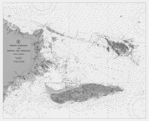 Virgin Island Passage Map (B&W)