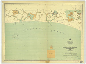 Virginia Public Oyster Grounds - Chart 26 Map - 1895