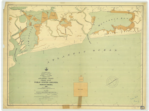 Virginia Public Oyster Grounds - Chart 27 Map - 1895