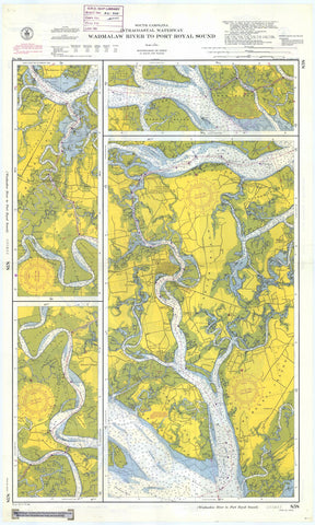 Wadmalaw River to Port Royal Sound Map - 1954