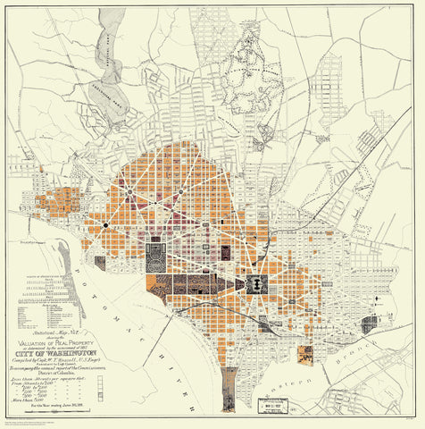 Washington DC Property Value Map - 1887
