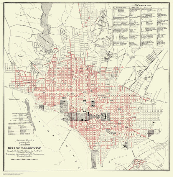 Washington DC Shade Trees Map