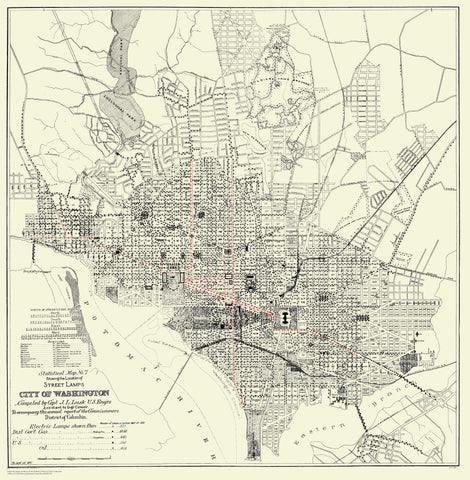 Washington DC Street Light Map