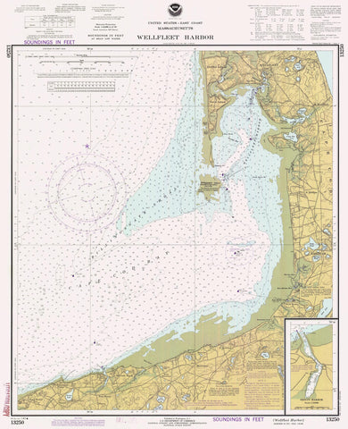 Wellfleet Harbor Map - 1981