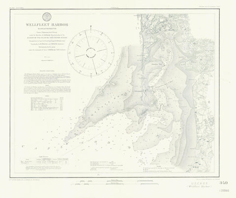 Wellfleet Harbor Map - 1860