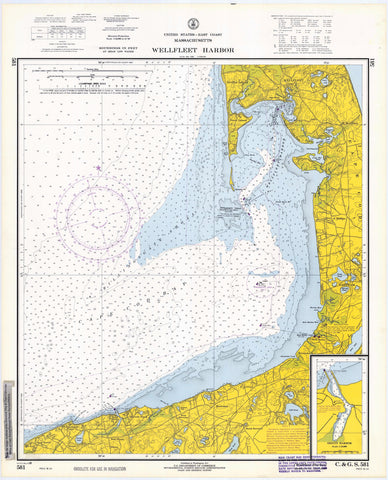 Wellfleet Harbor Map - 1968