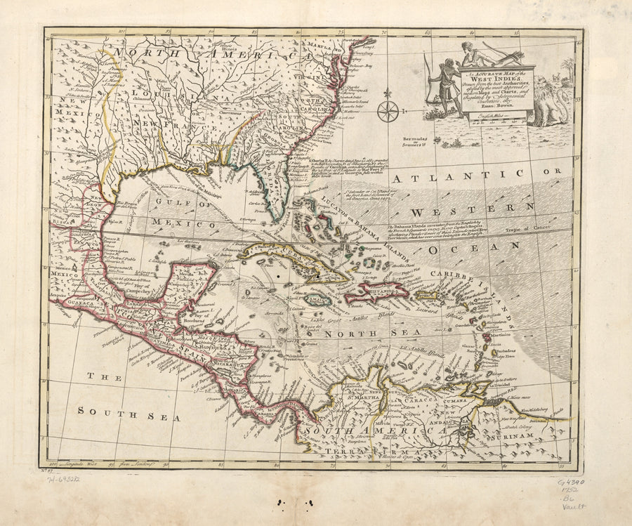 West Indies Map - 1752