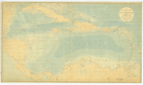 West Indies and Caribbean Sea Map - 1881