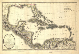 West Indies and Mexican Gulph Map - 1806