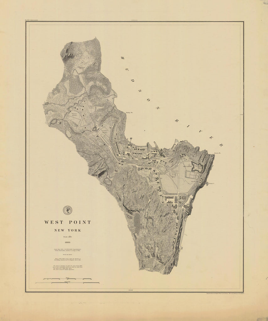 West Point Map - 1883