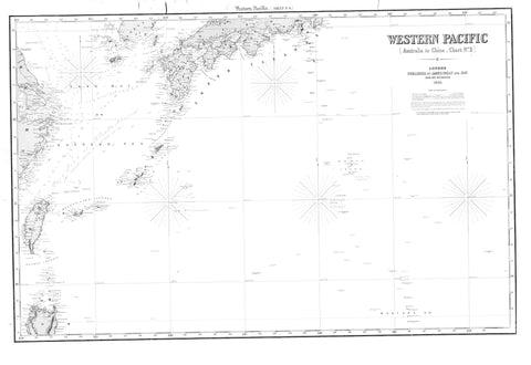 Western Pacific - Australia to China Map - 1866