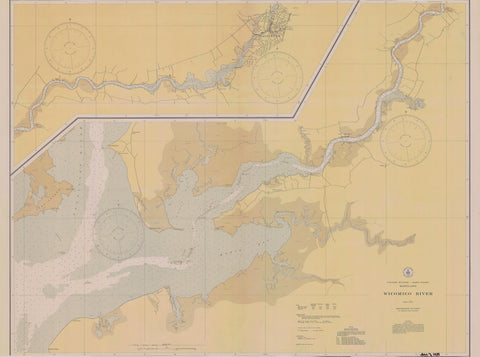 Wicomico River - Maryland Map - 1934