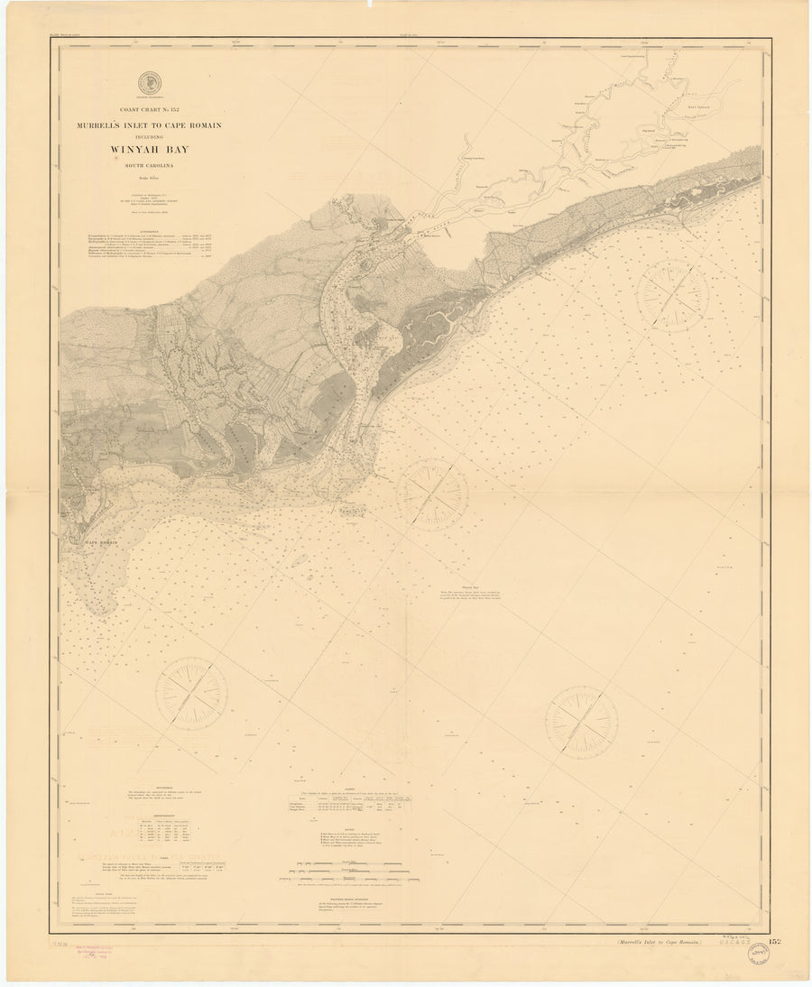 Winyah Bay - Murrells Inlet to Cape Romain Map 1899